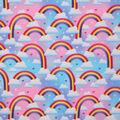 Novelty Cotton Fabric-Bright Rainbows