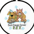 Dimensions Learn-A-Craft Stamped Cross Stitch Kit Best Friends Forever