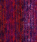 Luxe Flannel Fabric -Purple & Orange Geometrics