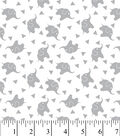 Nursery Flannel Fabric -Elephant Confetti Gray