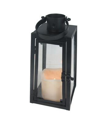 Hello Spring Small Metal LED Lantern-Black