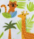 Anti-Pill Plush Fleece Fabric-Safari Animals
