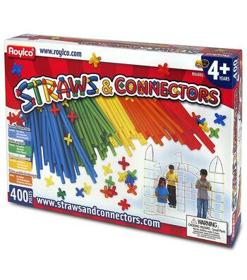 Roylco Straws & Connector Set, 400 Pieces