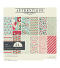 Authentique Double-Sided Cardstock Pad 6\u0022X6\u0022 24/Pkg-Jingle