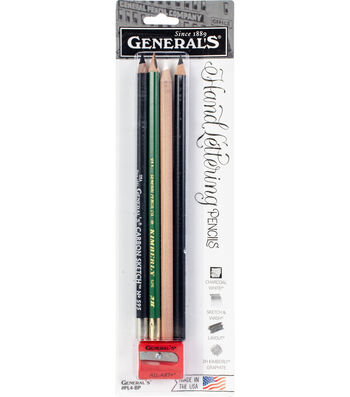General's Hand Lettering Pencils with Sharpener