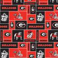 University of Georgia Bulldogs Fleece Fabric -Block