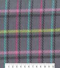 Anti-Pill Fleece Fabric 59\u0022-Spring Plaid Cream