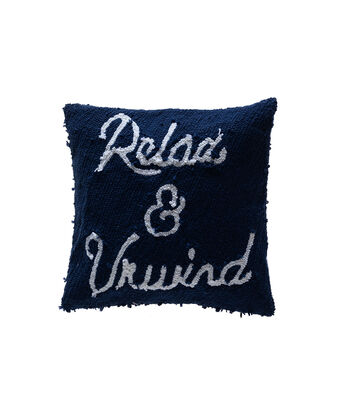 Camp Ann 17''x17'' Pillow-Relax & Unwind