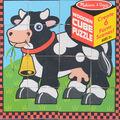 Melissa & Doug Wooden Cube Puzzle-Farm