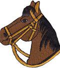 Wrights Iron-On Appliques-Brown Horse 2-3/4\u0022X2-3/4\u0022 1/Pkg