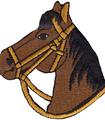 """Wrights Iron-On Appliques-Brown Horse 2-3/4""""X2-3/4"""" 1/Pkg"""