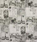 Richloom Studio Multi-Purpose Decor Fabric 54\u0022-Postcards Grey