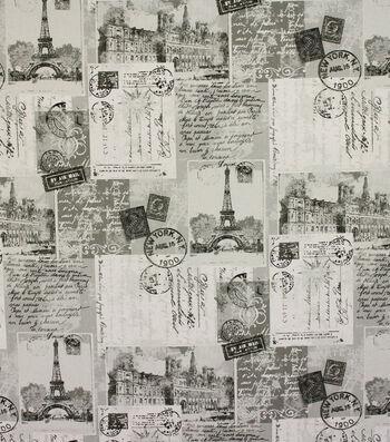 "Richloom Studio Multi-Purpose Decor Fabric 54""-Postcards Grey"