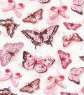 Keepsake Calico Cotton Fabric 43\u0027\u0027-Pink Butterfly