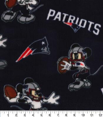 New England Patriots Fleece Fabric-Mickey