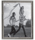 Photo Frame with Jewel Chips Border 8\u0027\u0027x10\u0027\u0027-Silver