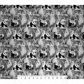 Super Snuggle Flannel Fabric-Black & White Realistic Animals