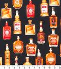 Novelty Cotton Fabric -Whiskey Bottles