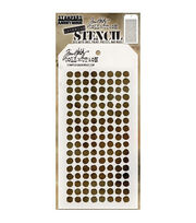 Stampers Anonymous Tim Holtz 4.13''x8.5'' Layering Stencil-Dotted, , hi-res