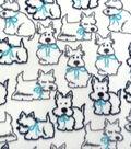 Anti-Pill Fleece Fabric 59\u0027\u0027-Pups with Bows