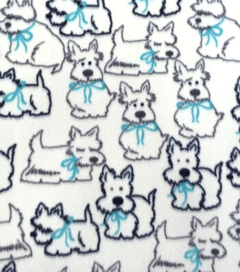 Anti-Pill Fleece Fabric 59''-Pups with Bows