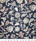 Premium Quilt Cotton Fabric-Navy Medallion Floral Navy