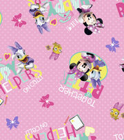 Disney Minnie Mouse Cotton Fabric 43''-Happy Helpers, , hi-res