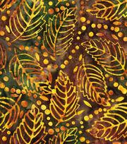 "Legacy Studio Indonesian Batiks Cotton Fabric 44""-Green Leaves, , hi-res"
