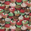Christmas Cotton Fabric-Holiday Cupcakes