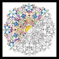 Design Works Zenbroidery Stamped Picture Kit-Kitchen Mandala