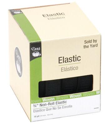 Non Roll Elastic 18 yds-Black