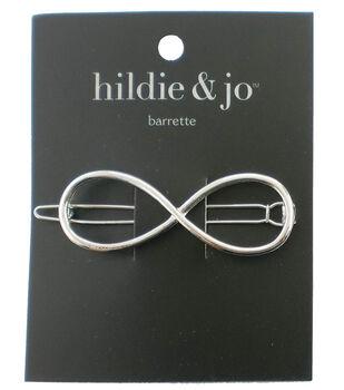 hildie & jo Infinity Silver Barrette