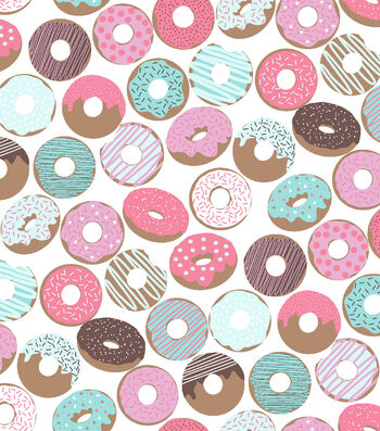 Blizzard Fleece Fabric 59''-Icing & Sprinkles on Donuts