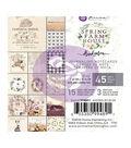 Prima Marketing Spring Farmhouse 45 pk 3\u0027\u0027x4\u0027\u0027 Journaling Notecards