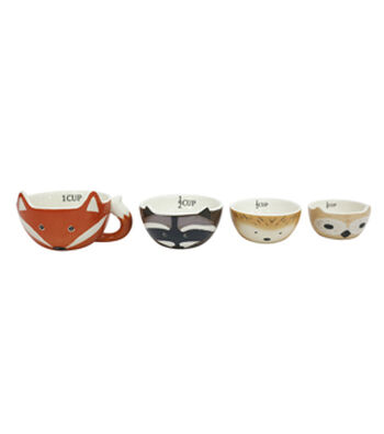 Simply Autumn 4 pk Critter Measuring Cups