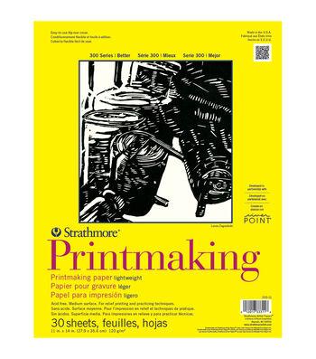 Strathmore Printmaking Paper Pad 11''x14'' 30 pcs