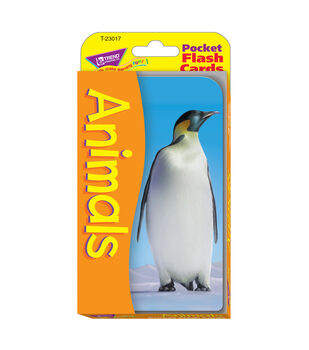 Trend Enterprises Inc Pocket Flash Cards-Animals
