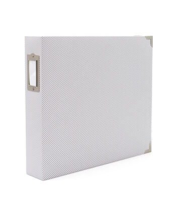Project Life Snapshots 12''x12'' D-Ring Faux Leather Album