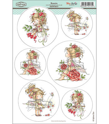"Hobby House Wee Stamps Topper Sheet 8.3""X12.2""-Rosetta"