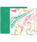 Pink Paislee Confetti Wishes 25 pk 12\u0027\u0027x12\u0027\u0027 Double-Sided Cardstock-#09