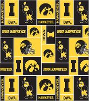 University of Iowa Hawkeyes Fleece Fabric 58''-Block, , hi-res