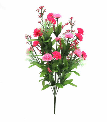 Fresh Picked Spring 18'' Mum Filler Mixed Bush-Pink