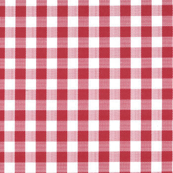 """Tablecloth Vinyl 54""""-Gingham Check Red"""