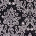 Anti-Pill Plush Fleece Fabric-Black & White Floral