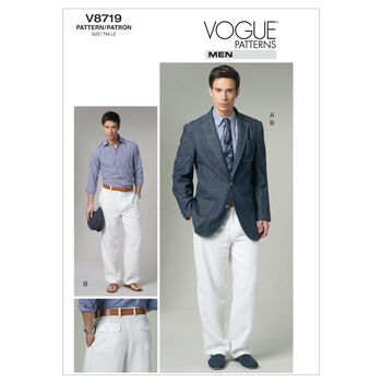 Vogue Patterns Mens Casual-V8719