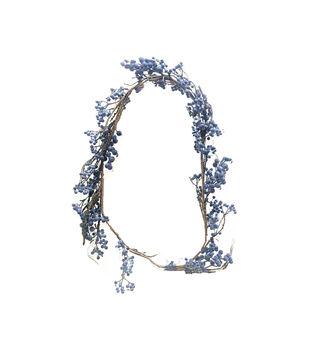 Handmade Holiday Christmas Berry Garland-Blue