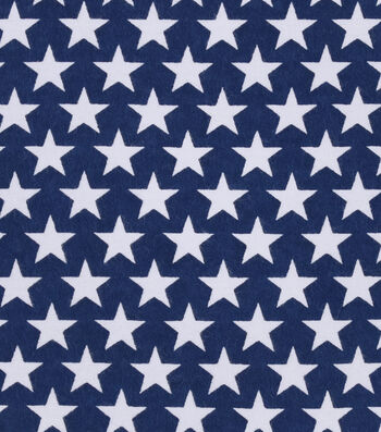 Snuggle Flannel Fabric -Stars on Navy