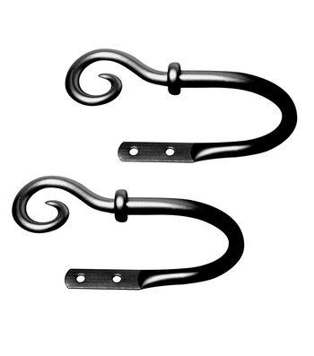 Kenney Medieval Hook Decorative Holdbacks-Black
