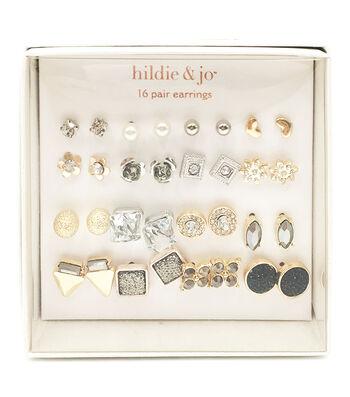 hildie & jo 16-pair Silver & Gold Earrings