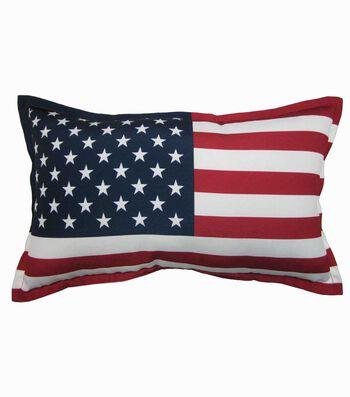 Americana Patriotic Lumbar Pillow-USA Flag